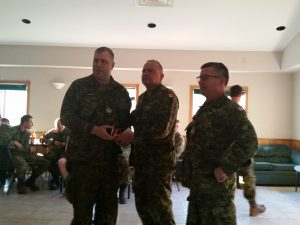 Sgt Gibson 89 Bty receives his CD